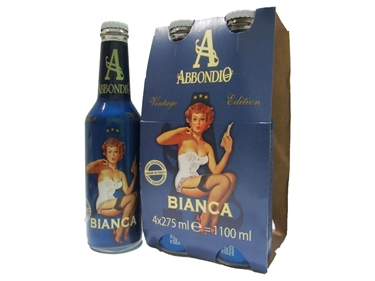Picture of Bianca, the classical fizzy lemon drink Abbondio 27.5 cl  4x