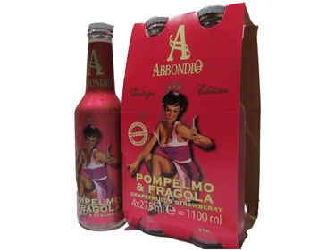 Picture of Grapefruit and stanwberry Abbondio 27.5 cl 4x