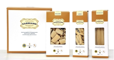Picture of Box mixed pasta IGP ,pasta factory Carmiano of Gragnano.