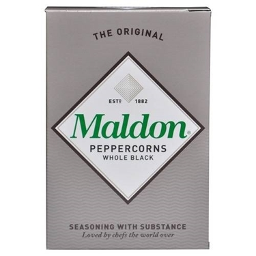 Immagine di MALDON PEPPERCORNS WHOLE BLACK PEPE NERO
